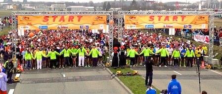 Startaufstellung Marathon Freiburg 2013