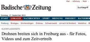 Badische Zeitung Screenshot