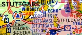 ICAO-Karte Ausschnitt Stuttgart