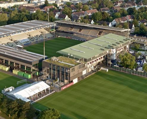 Soccer arena Sportclub Freiburg / Black Forest, Germany.