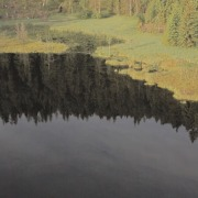 lake huzenbacher black forest aerial drone